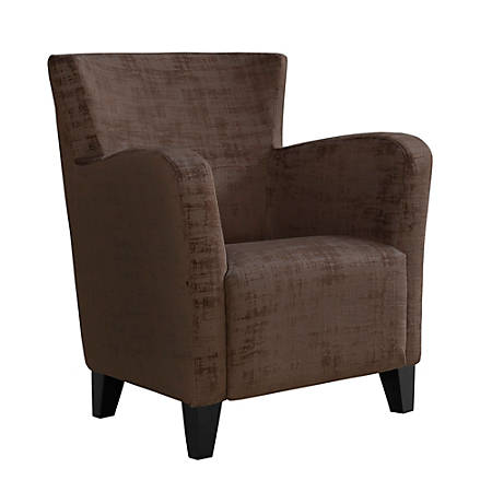 Monarch Specialties Brushed Velvet Accent Chair, Brown/Black