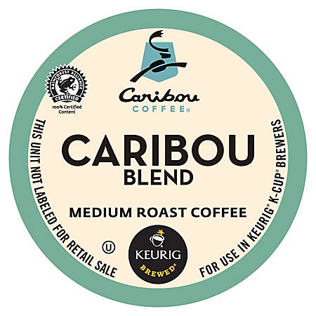 Caribou Coffee Caribou Blend Coffee K-Cup® Pods, 0.42 Oz, Box Of 24 Pods