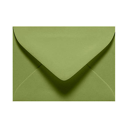 "LUX Mini Envelopes With Moisture Closure, #17, 2 11/16"" x 3 11/16"", Avocado Green, Pack Of 500"