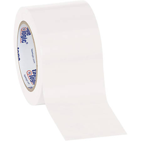"""BOX Packaging Solid Vinyl Safety Tape, 3"""" Core, 3"""" x 36 Yd., White, Case Of 3"""