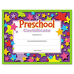 TREND Colorful Classic Preschool Certificates 8
