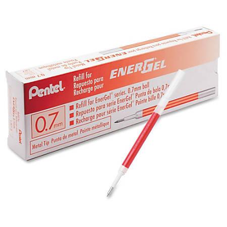 Pentel EnerGel .7mm Liquid Gel Pen Refill - 0.70 mm Point - Red Ink - 1 Each
