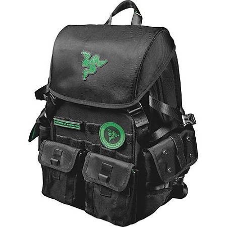 "Mobile Edge Razer Carrying Case (Backpack) for 17.3"" Notebook - Black - Water Resistant Exterior, Scratch Resistant Exterior, Tear Proof Exterior, Moisture Resistant Panel - Ballistic Nylon, MicroFiber Interior - Shoulder Strap, Chest Strap"