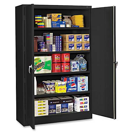 """Tennsco® Jumbo Storage Cabinet, 5-Shelf, 78"""" x 48""""W, Black"""