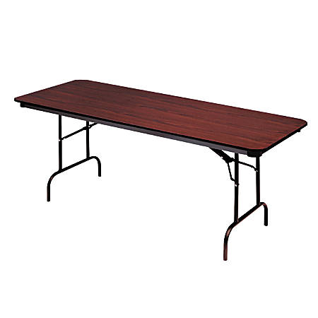 "Iceberg Premium Folding Table, Rectangular, 60""W x 30""D, Mahogany/Brown"