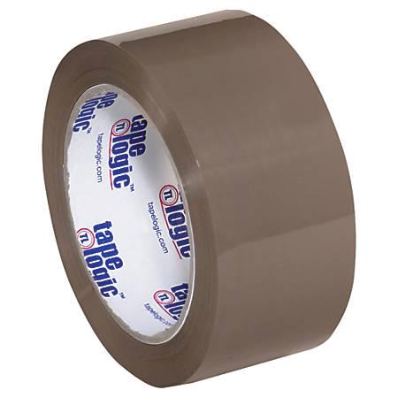 "Tape Logic® #600 Hot Melt Tape, 3"" Core, 2"" x 110 Yd., Tan, Case Of 6"