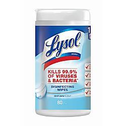 Lysol Disinfecting Wipes Crisp Linen 8