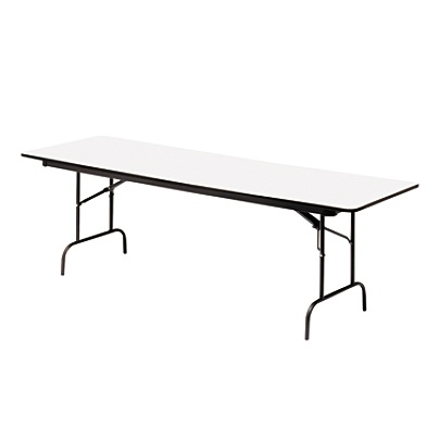 Iceberg Premium Wood Laminate Folding Table Rectangular 72 W X 30 D Graycharcoal By Office Depot Officemax