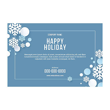 Single-Sided Flyers, Snow Border, Horizontal