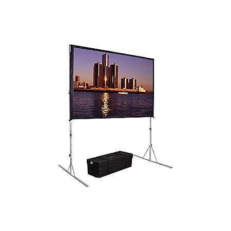 """Da-Lite Fast-Fold Deluxe 111.1"""" Projection Screen - Yes - 16:9 - 3D Virtual Black - 56"""" x 96"""""""
