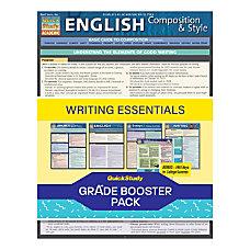 QuickStudy Grade Booster Pack Writing Essentials