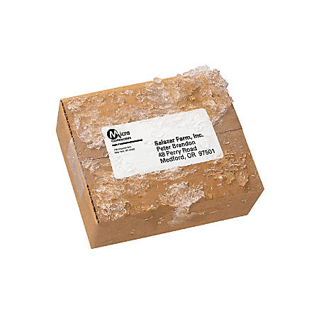"""Avery® WeatherProof Mailing Labels With TrueBlock Technology, 95523, 2"""" x 4"""", White, Pack Of 5,000"""