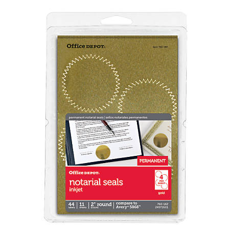 Award certificate seals at office depot office depot brand permanent self adhesive yelopaper Image collections