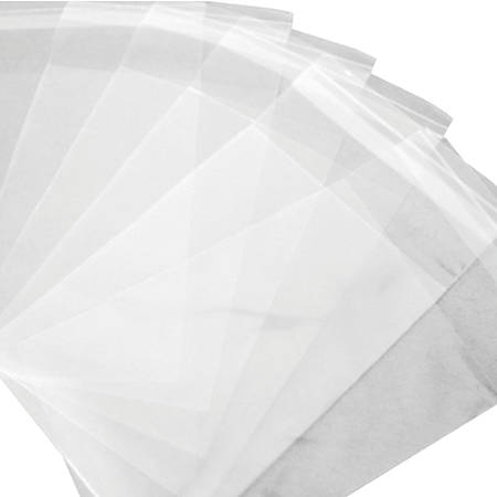 """Office Depot® Brand Resealable Polypropylene Bags, 5 1/4"""" x 8"""", Clear, Pack Of 1,000"""