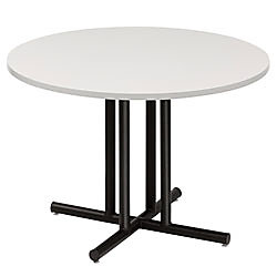 Iceberg Round Conference Table Top Diameter Gray By Office Depot - 36 conference table