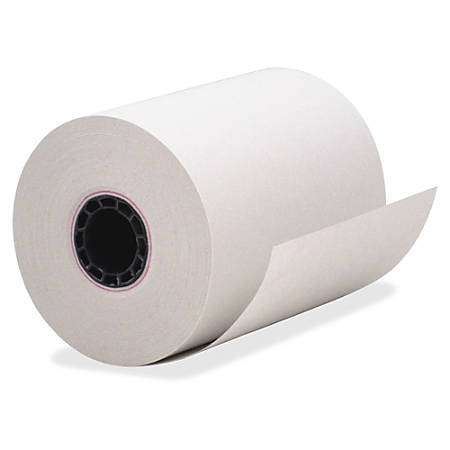 "PM Receipt Paper - 3 1/4"" x 150 ft - Recycled - 80% Recycled Content - 50 / Carton - White"