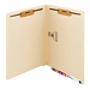 Smead® End-Tab Folders With 2 Fasteners, Straight Cut, Letter Size, Manila, Box Of 50