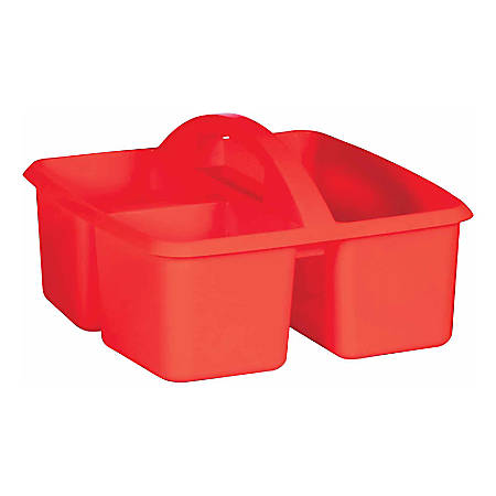 "Teacher Created Resources Plastic Storage Caddy, 5-1/4""H x 9-1/4""W x 9""D, Assorted Colors"