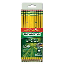 Ticonderoga Pencils With Microban Pre Sharpened