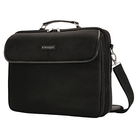 "Kensington Simply Portable 62560 Carrying Case for 15.6"" Notebook - Black - 13.5"" Height x 3"" Width x 15.8"" Depth"