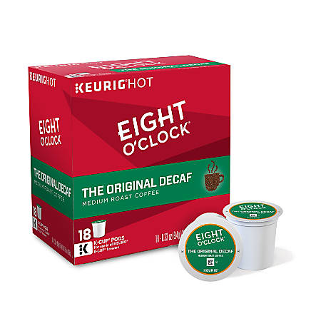 Eight O'Clock® Original Decaffeinated Coffee K-Cup® Pods, 0.4 Oz, Pack Of 18