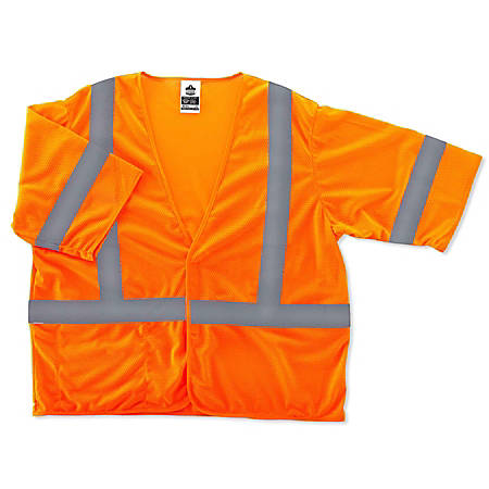 Ergodyne GloWear Safety Vest, Economy, Type-R Class 3, 4X/5X, Orange, 8310HL