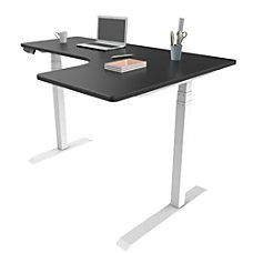 Loctek Height Adjustable Corner Desk With