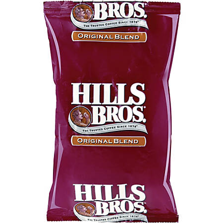 Office Snax® Hill Bros. Original Blend Coffee Single-Serve Packets, 1.8 Oz, Carton Of 42