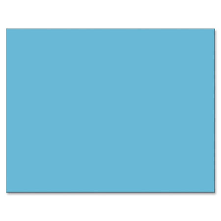 "Pacon® Peacock® 100% Recycled Railroad Board, 22"" x 28"", 4-Ply, Light Blue, Carton Of 25 Sheets"