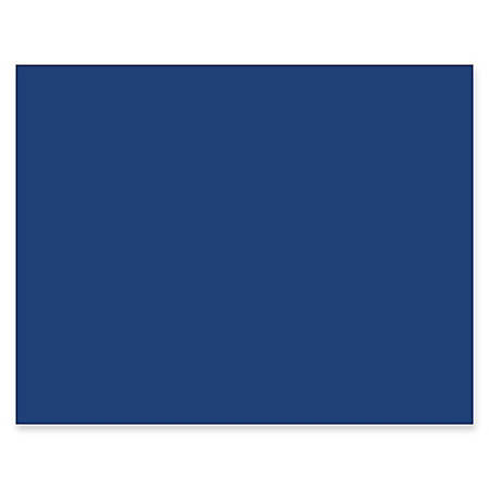 """Pacon® Peacock® 100% Recycled Railroad Board, 22"""" x 28"""", 4-Ply, Dark Blue, Carton Of 25 Sheets"""