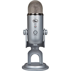 Blue Microphones Yeti Microphone - Stereo - 20 Hz to 20 kHz - Wired - Condenser - Cardioid, Bi-directional, Omni-directional - Stand Mountable, Shock Mount - USB, Mini-phone