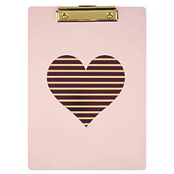 DiVoga Pink Heart Clipboard 9 x