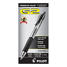 Pilot G2 Retractable XFine Gel Ink