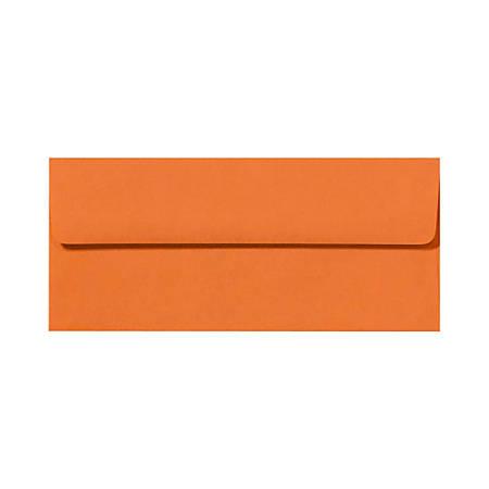 "LUX Envelopes With Peel & Press Closure, #10, 4 1/8"" x 9 1/2"", Mandarin Orange, Pack Of 250"