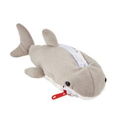 Office Depot® Brand Plush Animal Pencil Pouch, Gray Shark