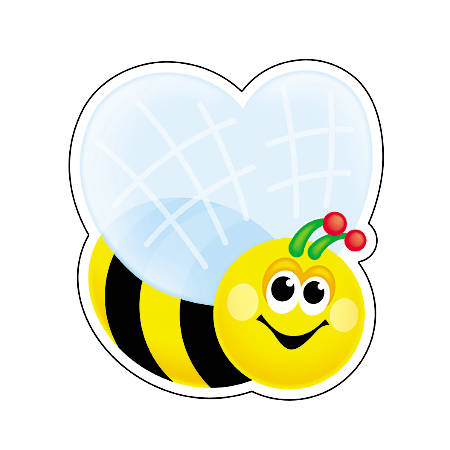 """TREND Mini Accents, 3"""", Bees, Black/Yellow, Pre-K - Grade 8, Pack Of 36"""