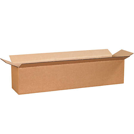 "Office Depot® Brand Corrugated Boxes, 8""H x 8""W x 30""D, 15% Recycled, Kraft, Bundle Of 25"