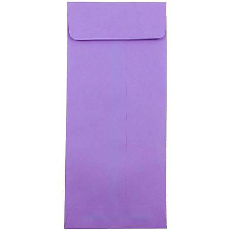 """JAM Paper® #12 Policy Envelopes, 4 3/4"""" x 11"""", Violet, Pack Of 50 Envelopes"""