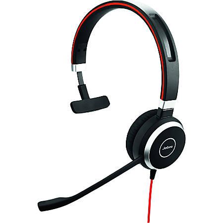 Jabra® Evolve 40 UC Mono Wired Over-The-Head Headphones