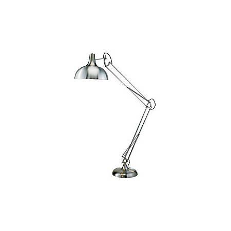 Adesso® Atlas Floor Lamp, Satin Steel