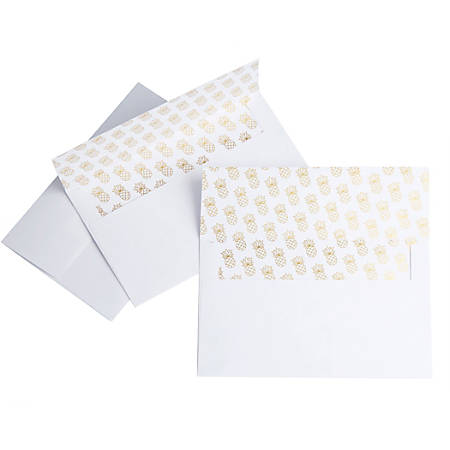 Office Depot® Brand Envelopes, A9, Pineapple Foil, Pack Of 25 Envelopes