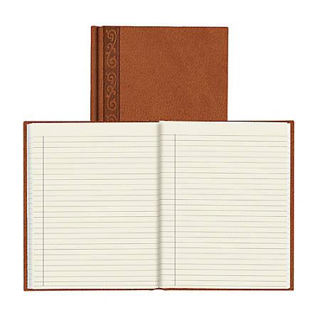 "Da Vinci Perfect Binding Executive Hard-Cover Journal, 8 1/2"" x 11"", Tan"