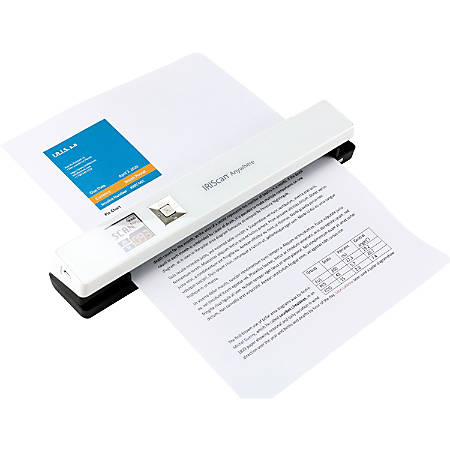 IRIS Iriscan Anywhere 5-White Portable Document And Photo Scanner - 12 ppm (Mono) - 12 ppm (Color) - PC Free Scanning - USB