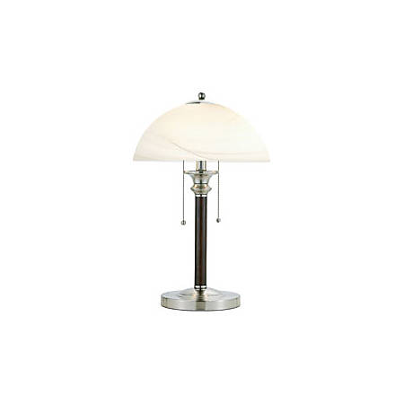 Adesso® Lexington Table Lamp, Satin Steel/Frosted