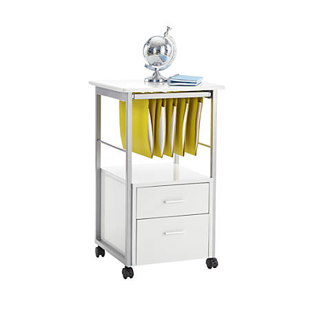 "Realspace® Halton 18""D 2-Drawer Mobile Vertical File Cabinet, White"