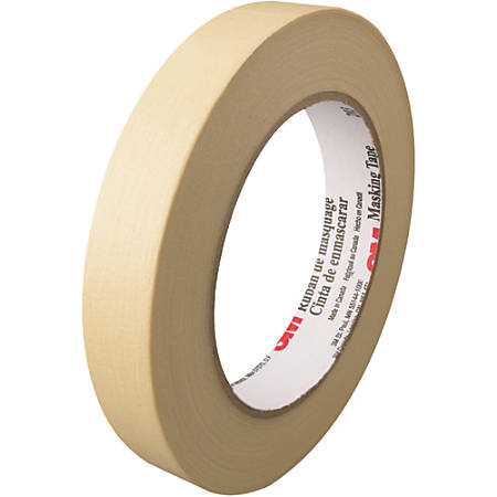 """3M™ 203 Masking Tape, 3"""" Core, 0.75"""" x 180', Natural, Pack Of 12"""