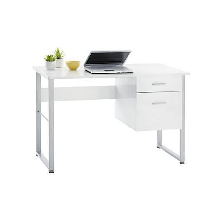 "Realspace® Halton 47""W Computer Desk, White"