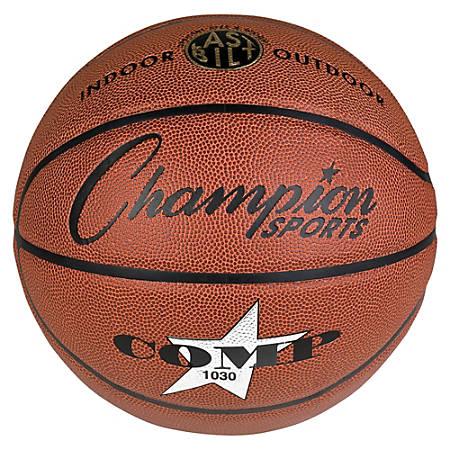 Champion Sport s Intermdt-size Composite Basketball - Official - Orange - 1 Each