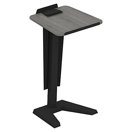"Lorell® Impromptu Lectern With Modesty Panel, 45""H, Weathered Charcoal"