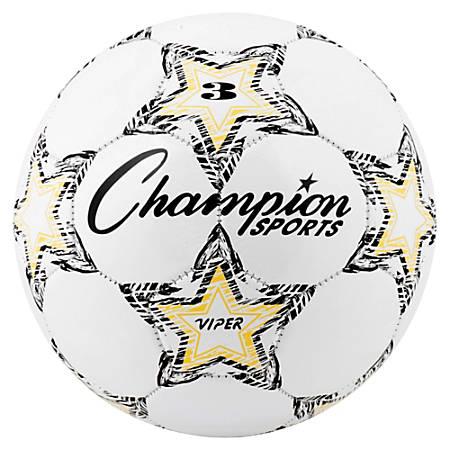 Champion Sport s Size 3 Viper Soccer Ball - Size 3 - White, Yellow, Black - 1 Each